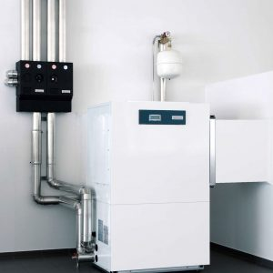 Indoor air/water heat pump / high-temperature